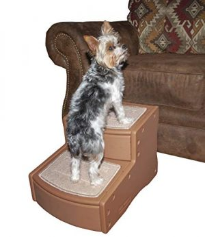 Pet Gear Easy Step II Pet Stairs, 2 Step for Cats/Dogs, Portable, Pecan