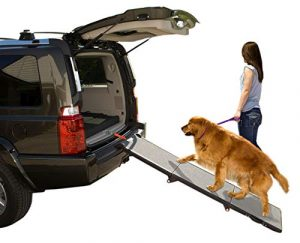 Pet Gear Tri-Fold Ramp Extra Wide Portable Pet Ramp for Dogs/Cats