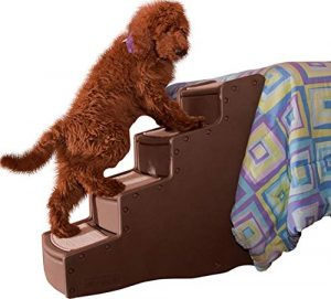 Pet Gear Easy Step IV Pet Stairs, 4-step/for cats and dogs Chocolate