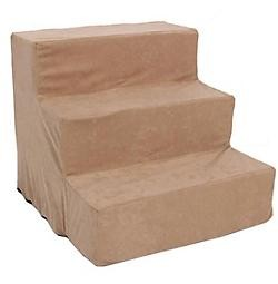 Pet 3 Step Suede Pet Stairs