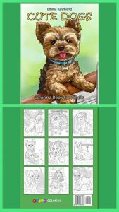 Cute Dogs Adult Coloring Book