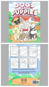 Dogs & Puppies Coloring Book For Children